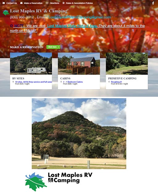Vacation Lodging Website
